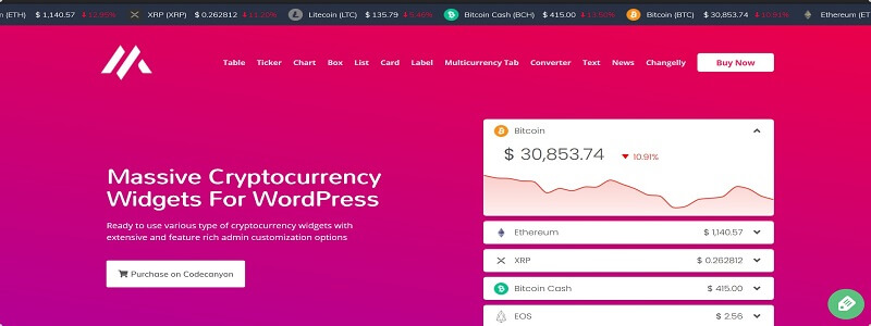 Massive best cryptocurrency WordPress plugins