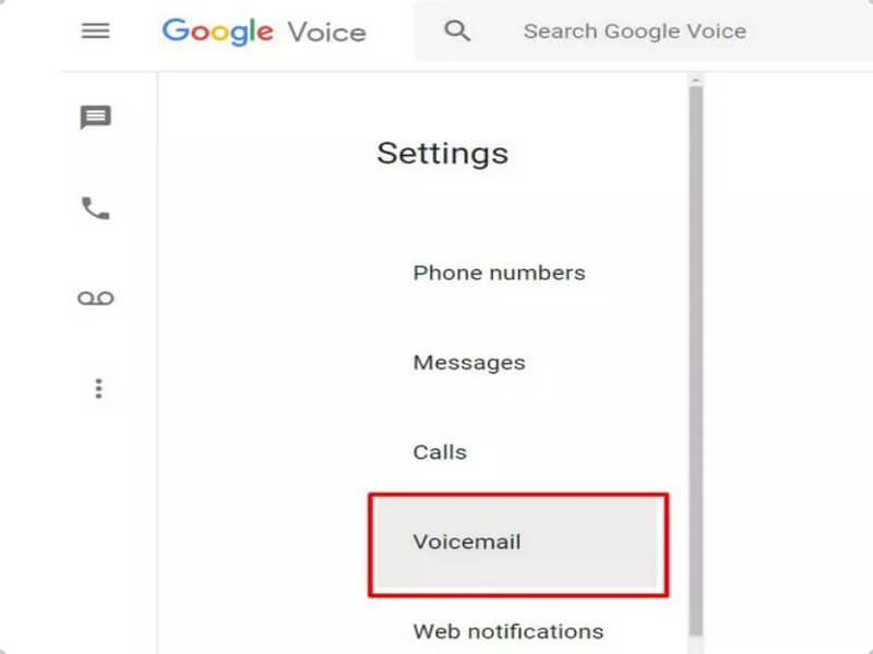click Voicemail