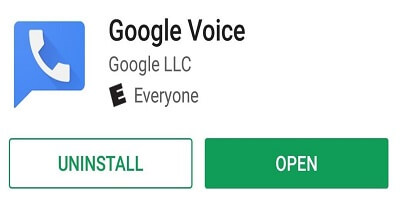 Google Voice uninstal On Android