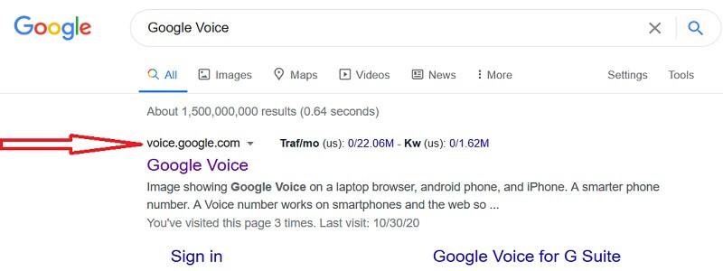 google voice official website link